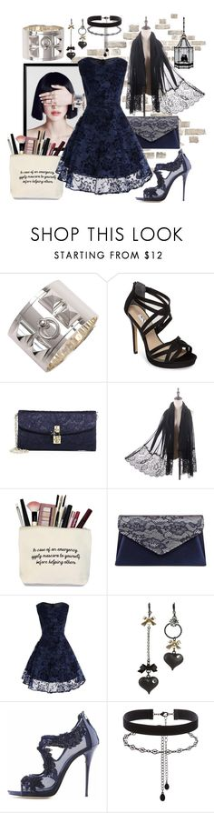 """Mary Loves Surprises ❤"" by mavinex-de-nova ❤ liked on Polyvore featuring Hermès, Nina, Dolce&Gabbana, Gunne Sax By Jessica McClintock, Betsey Johnson, Oscar de la Renta, Accessorize and Universal Lighting and Decor"