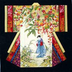 bargello kimono quilt pattern   Kimono Pattern Wall
