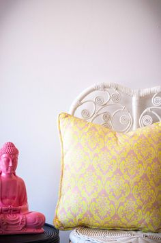 Find a range of cushions - cotton, linen, crocheted in a range of designs and colours. In kids room or in the living room. Bean Bag, Color Splash, Baroque, Kids Room, Vibrant, Cushions, Neon, Colours, Throw Pillows