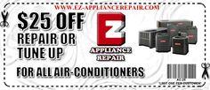 Appliance Repair Coupons (800) 350-0224   EZ Appliance Repair Inc