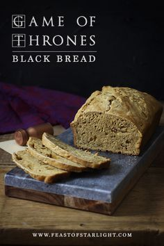 of Thrones: Black Bread A recipe for black bread inspired by the Game of Thrones series.A recipe for black bread inspired by the Game of Thrones series. Game Of Thrones Food, Game Of Thrones Party, Bread Recipes, Cooking Recipes, Cooking Games, Yummy Recipes, Cooking Tips, Medieval Recipes, Ancient Recipes
