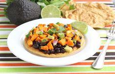 Black bean and sweet potato tostadas!