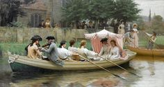 Edmund Blair Leighton ~ Launched in Life