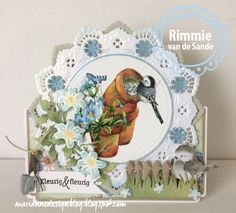 Marianne Design - Creatable - Petra`s Circle with bird Pop Up Greeting Cards, Pop Up Cards, Love Cards, Card Kit, I Card, Marianne Design Cards, Love Stamps, Bird Cards, Heartfelt Creations