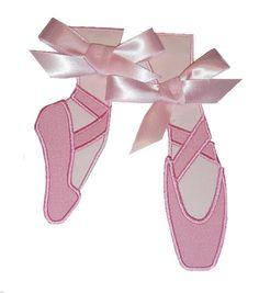Ballet Point Slippers Applique Design