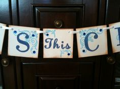 BLESS This CHILD Garland Banner/  Baby Shower / by ArmyMOMOfTwins, $19.50