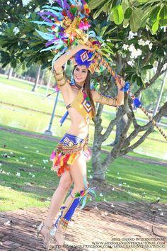 ミスグランド2014のコロンビアの民族衣装