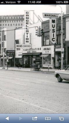 Downtown Flint MI 1960's