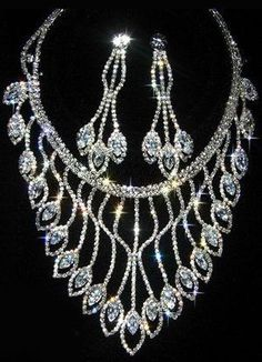 Luxurious Alloy Rhinestone Wedding Bridal Jewelry Set - Wedding Jewelry - Accessories