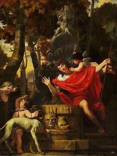 Narcissus. 1665-70.Gerard de Lairesse. Dutch 1640-1711. oil/canvas.