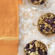 Breakfast Blueberry-Oatmeal Cakes Recipe - EatingWell.com