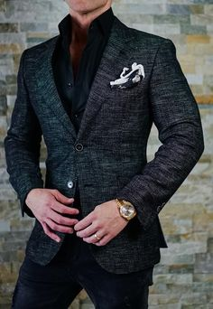 Mens fashion Videos Streetwear - - Mens fashion Night Out Wardrobes - Mens fashion Country Summer Formal Jackets For Men, Stylish Jackets, Blazer Outfits Men, Stylish Mens Outfits, Classy Suits, Designer Suits For Men, Mens Fashion Suits, Sports Jacket, Mens Clothing Styles