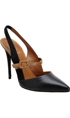 Fendi Slingback Mary Jane Pumps Black Tobacco Fall Winter 2013