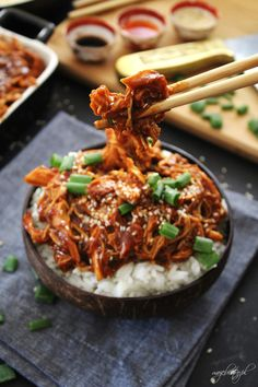 China Food, Pulled Chicken, Asian Recipes, Ethnic Recipes, Food Porn, Food And Drink, Tasty, Lunch, Baking