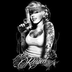 """""""Respect Monroe"""" - Street Cred Urban Bo$$wear   http://www.streetcredbosswear.com/store/c9/Marilyn_Monroe_Series.html"""