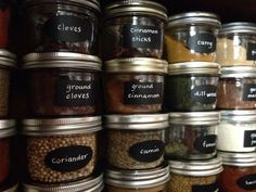organized spices - LOVE