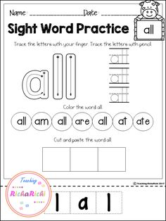 Freebies, FREE Sight Word (Primer) activities, worksheets, no prep, home work.