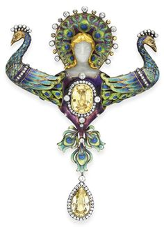 'Juno,'designed and made by Boucheron. It was exhibited at the Paris Exposition in 1900 and is one of the great Art Nouveau jewels.