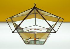 Geometric recycled glass Solder Terrarium housing for plants moss or succulent waterproof fish tank