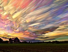 Wonderful smeared skies made from hundreds of stacked photos by Matt Molloy