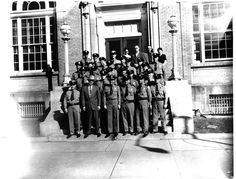 Provo Police (1930) Police Department Staff Standing on front steps of what is most likely the Provo Police Station. Most likely in the late 1930's
