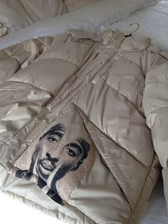 A personal favorite from my Etsy shop https://www.etsy.com/listing/275599248/tupac-inspired-down-coat