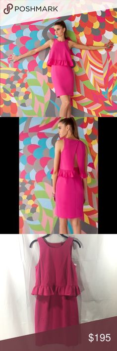 Trina Turk Hot Pink Size 4 NWT Dress Trina Turk Hot Pink Size 4 NWT Dress Top Cute and in great condition. Semi open back with hidden zipper. Lined and measures 38 inches in length. Trina Turk Dresses