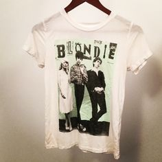 BLONDIE Tshirt Blondie Short Sleeve Shirt  White, Mint Green and Black!! Only wore once so in Great condition!! Tops Tees - Short Sleeve
