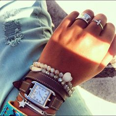 I love this look. Hermes Jewelry, Hermes Bracelet, Fashion Jewelry, Watch Bracelets, Jewellery, Hermes Watch, Hermes Bags, Diamond Are A Girls Best Friend, Passion For Fashion