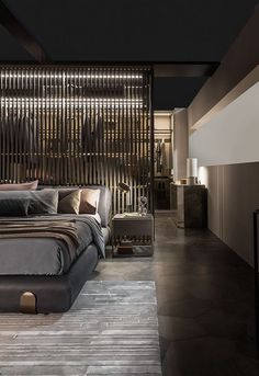 Modern Style Bedroom Design Ideas and Pictures. Is the perfect modern bedroom at the top of your wish list? Our modern bedroom design ideas and inspiration has been carefully compiled to ensure that you. Bedroom Lamps Design, Industrial Bedroom Design, Modern Bedroom Design, Industrial House, Contemporary Bedroom, Home Decor Bedroom, Modern Interior Design, Home Design, Bedroom Ideas