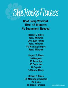 #LaborDayWeekend Boot Camp Workout @fitfluential