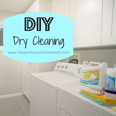 "If you're anything like me you dread seeing ""dry clean only"" on clothing. I don't wear a ton of things that are dry clean only so by the time I have enough stuff to justify a trip to the cleaners, ."