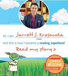 Author Jarrett J. Krosoczka is a superhero! Reading Programs For Kids, Online Reading Programs, Author Studies, Never Sleep, Greater Good, Reading Challenge, I Win, How To Become, Knowledge