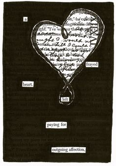 Frayed | Black Out Poetry | C.B. Wentworth