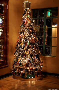 """Beer Can Christmas Tree! Love it! www.LiquorList.com  """"The Marketplace for Adults with Taste!""""  @LiquorList.com.com.com  #liquorlist"""