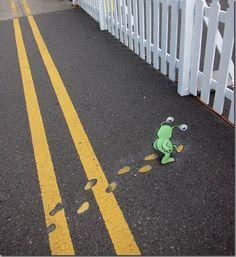 Street Chalk  Art by David Zinn
