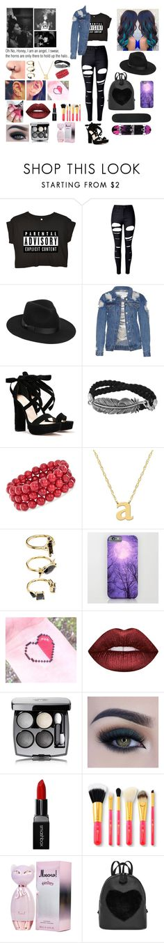 """Stereotype #1"" by ajkr1234 ❤ liked on Polyvore featuring WithChic, Lack of Color, Nasty Gal, Ross-Simons, Jane Basch, Noir Jewelry, Lime Crime, Chanel, Too Faced Cosmetics and Smashbox"