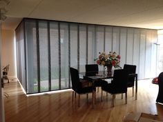Skyline Gliding Panels for a living/dining room in Northbrook, IL.