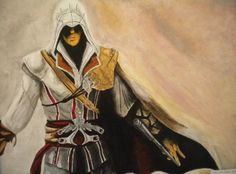 Ezio Auditore da Firenze by Assassins Creed Art, Assassin's Creed, Princess Zelda, Deviantart, Artist, Painting, Fictional Characters, Painting Art, Paintings