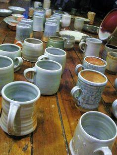 Kiln unload 2014 Darlin Cory Ceramics