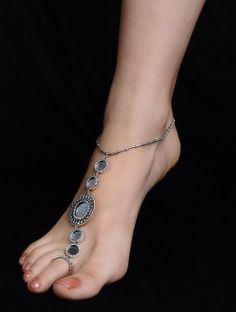 Anklets Ethno Silver Anklet - Set of 2 - Antique Jewellery Designs, Silver Jewellery Online, Silver Jewellery Indian, Silver Jewelry, 925 Silver, Fancy Jewellery, Silver Ring, Silver Earrings, Stylish Jewelry