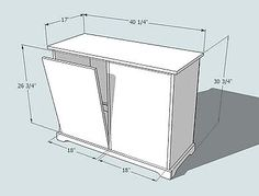 This site has MANY different plans for wood working.... cabinet plans...