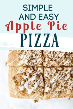 Simple and easy apple pie pizza makes for the perfect dessert on pizza movie night. It is full of apples, glaze, oat crumble and more. This is the most delicious treat! Dessert Pizza, Dessert Bars, Cinnamon Sugar Apples, Perfect Pizza, Baking Stone, Crumble Topping, Summer Treats, Apple Recipes, No Bake Desserts