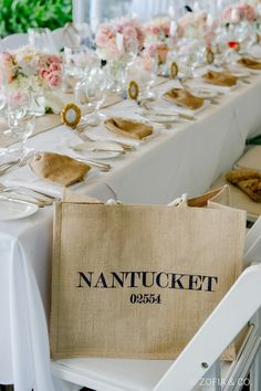 Destination Wedding by Gia Canali and Yifat Oren Wedding Table, Wedding Reception, Nantucket Wedding, Cape Cod Wedding, Wedding Welcome Bags, Sophisticated Bride, Nautical Wedding, E Design, Wedding Events