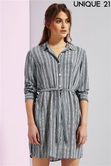 Unique 21 Erica Stripe Oversized Shirt