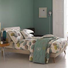 Sanderson Bedding | Dandelion Clocks Aqua Bedding & Curtains at Bedeck Home