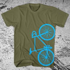 Fixie Bike T-Shirt Fixed Gear Bicycle Free Shipping. $18.00, via Etsy.
