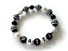 Custom Personalized Girls Name Bracelet / Black by BestGifts4Kids, $3.50