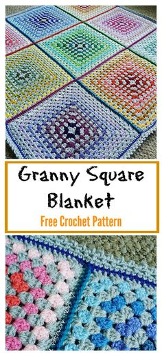 Patchwork Granny Square Blanket Free Crochet Pattern #freecrochetpatterns #blanket #grannysquare