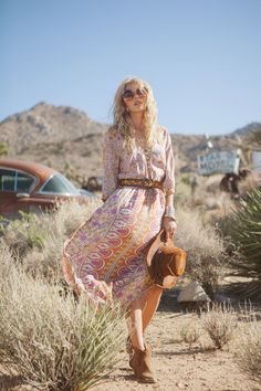 Spell and the Gypsy Collective_Boho Blossom maxi dress_safron_9426